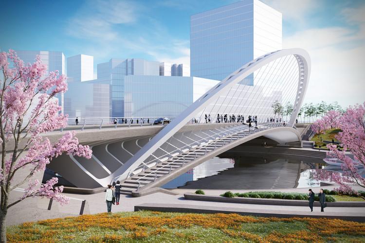 Puente Xihu. Imagen © Santiago Calatrava LLC
