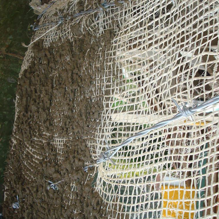 detalle del entramado en alambre y costal. Image vía Agencia de noticias UN