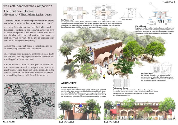 Honorable mention: Sculptors Domain / Shahid Sayeed Khan, Dania Faruq, and Mohammed Andir, from Pakistan. Image Courtesy of NKA Foundation