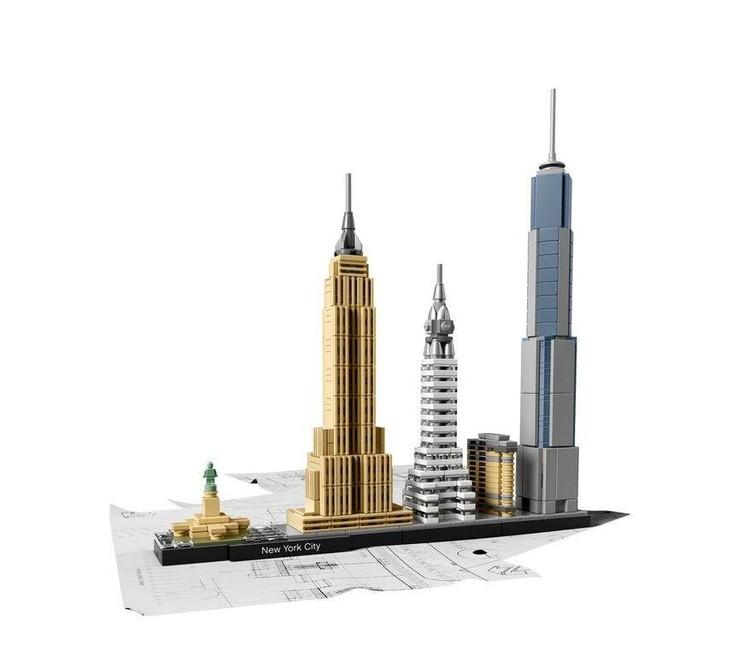 Esta nueva colección LEGO® te permite recrear skylines icónicos, New York City. Imagen © LEGO®