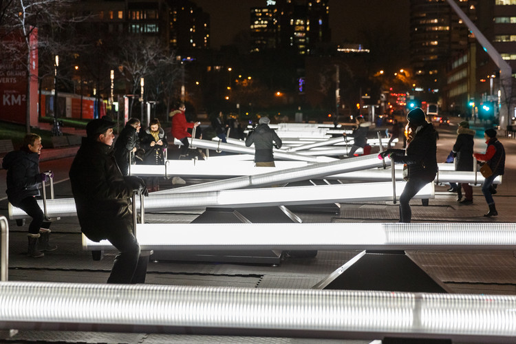 Musical Seesaws at the Place Des Festivals. Image © Ulysse Lemerise