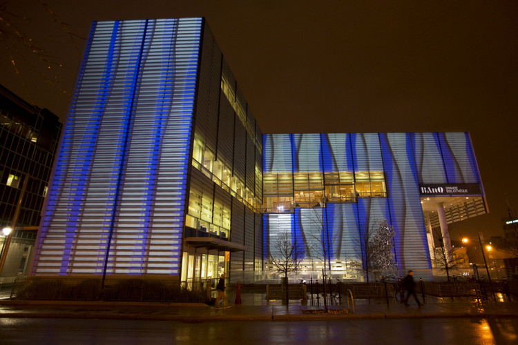 Architectural Video Projections Throughout Montreal. Image © Martine Doyon