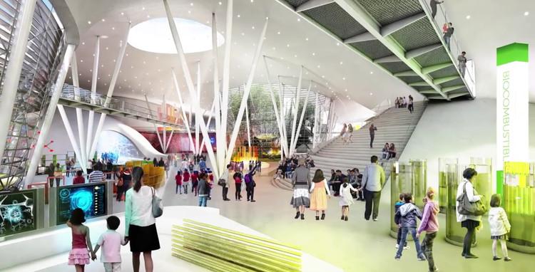 Interior de nueva propuesta para MUNET. Image vía Gobierno de la República Mexicana