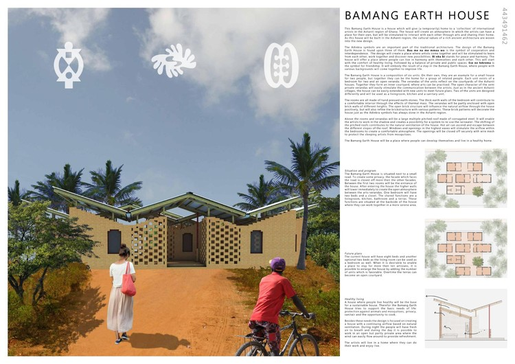 Honorable Mention: Bamang Earth House / Sanne Eekel from the Netherlands. Image Courtesy of NKA Foundation
