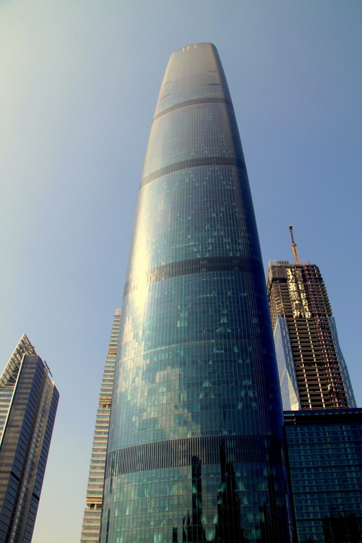 Guangzhou International Finance Center. Image © wyliepoon [Flickr] under license CC BY 2.0