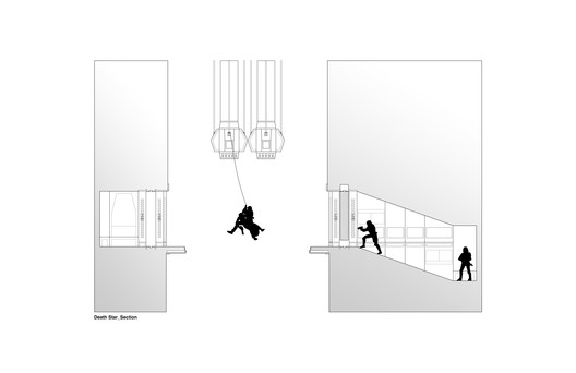 Section of Death Star Scene in which Luke Skywalker and Princess Leia escape . Image Courtesy of INTERIORS Journal