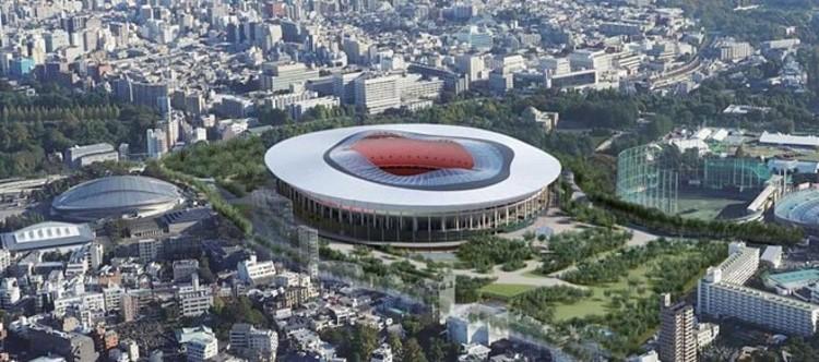 Diseño B. Imagen © Consejo Deportivo de Japón vía Curbed