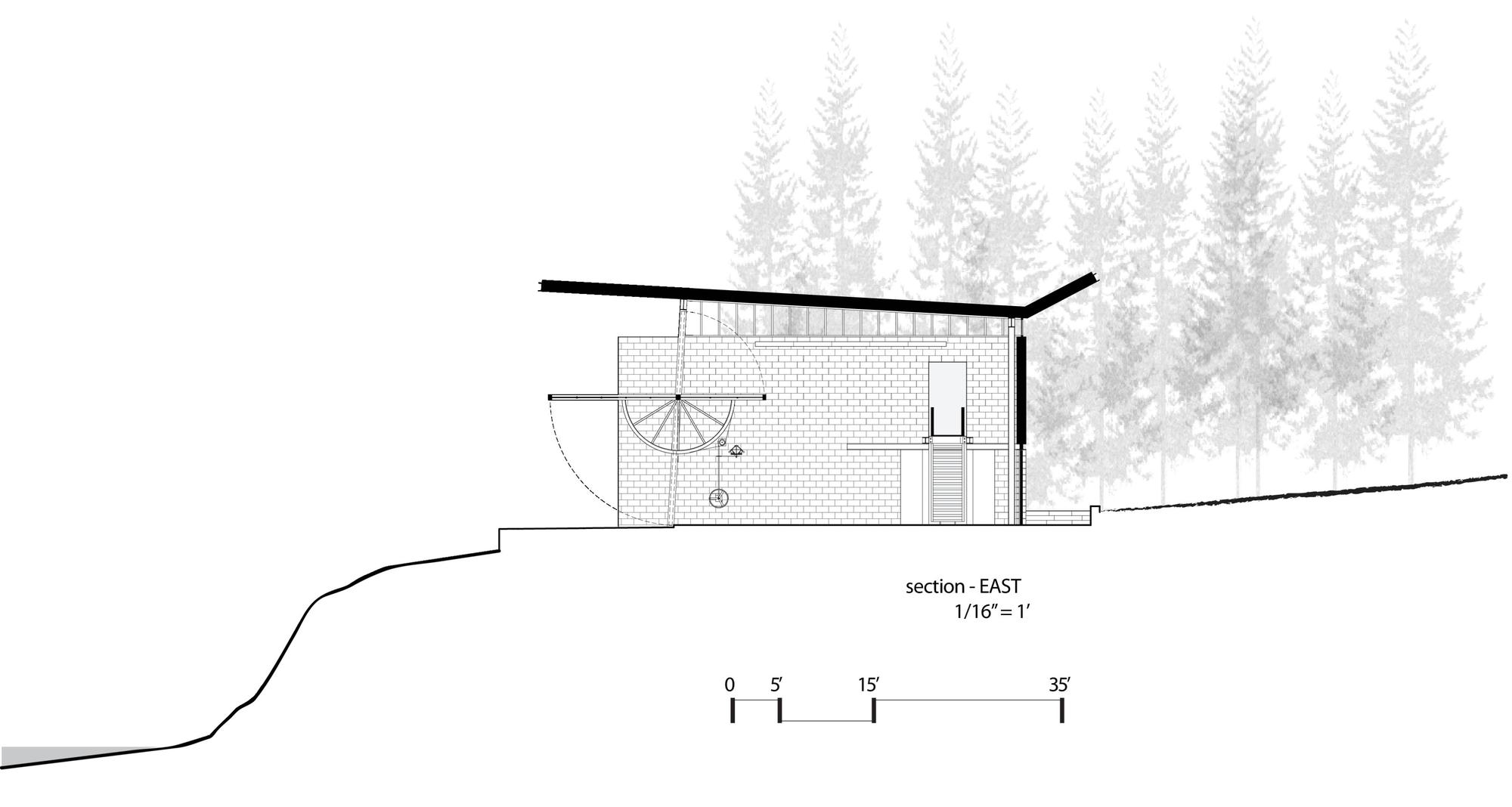 566f623de58ecee9c0000090 Chicken Point Cabin Olson Kundig Section on cabin plans