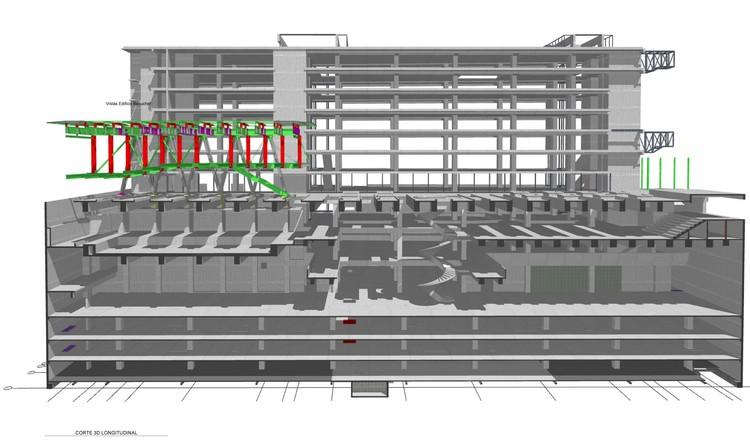 Edificio Beauchef Poniente. Sección 3D.