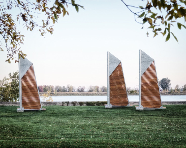 Félix Guyon's Sails Benches are Anchored in Montreal	, © Félix Guyon, via v2com newswire