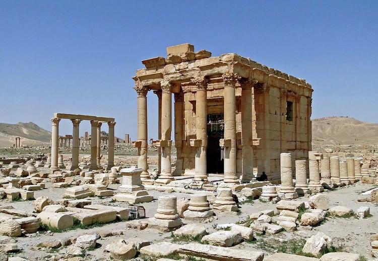 Templo de Baalshamin. Imagen © Bernard Gagnon vía Wikipedia (CC BY-SA 3.0)