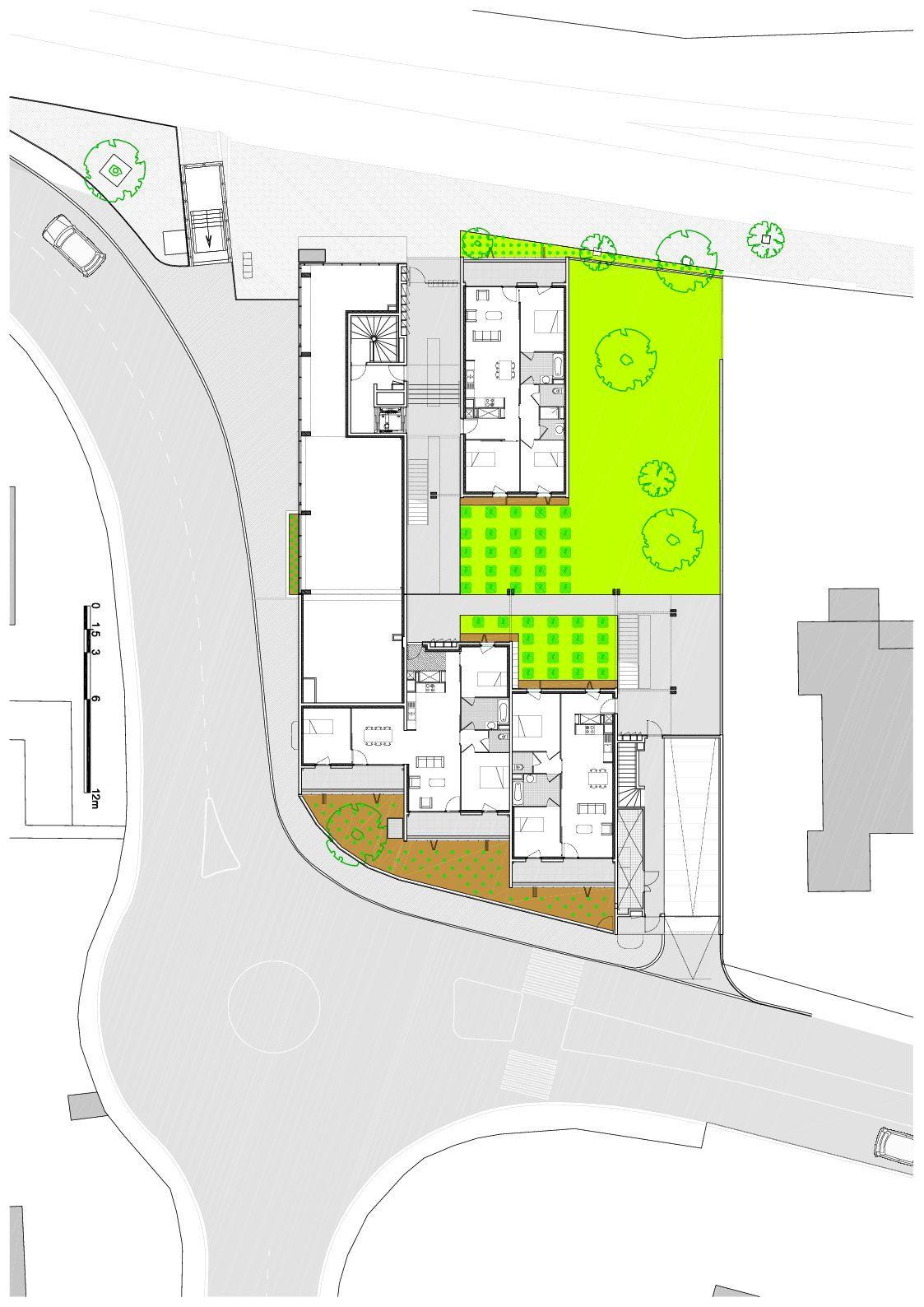 gallery of social housing shops in mouans sartoux comte et vollenweider architectes 38. Black Bedroom Furniture Sets. Home Design Ideas