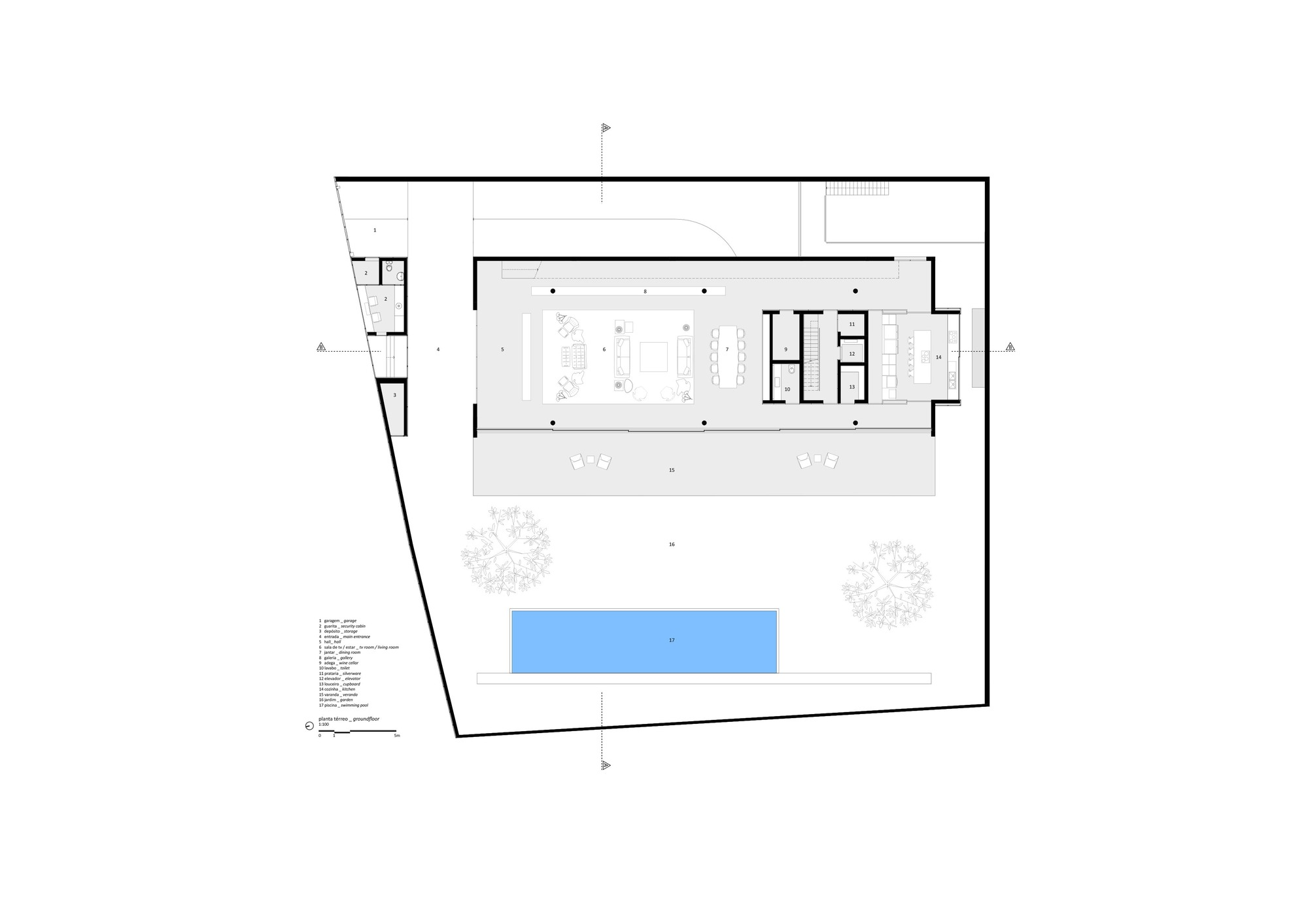 Gallery of ramp house studio mk27 marcio kogan for Marcio kogan plans