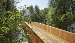Puente de Bicicletas en el Río Sava / dans arhitekti