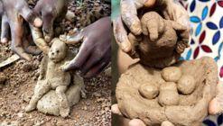 Fabricación de pesebres en Burkina Faso: una tradición navideña que les enseña a los niños a hacer arquitectura