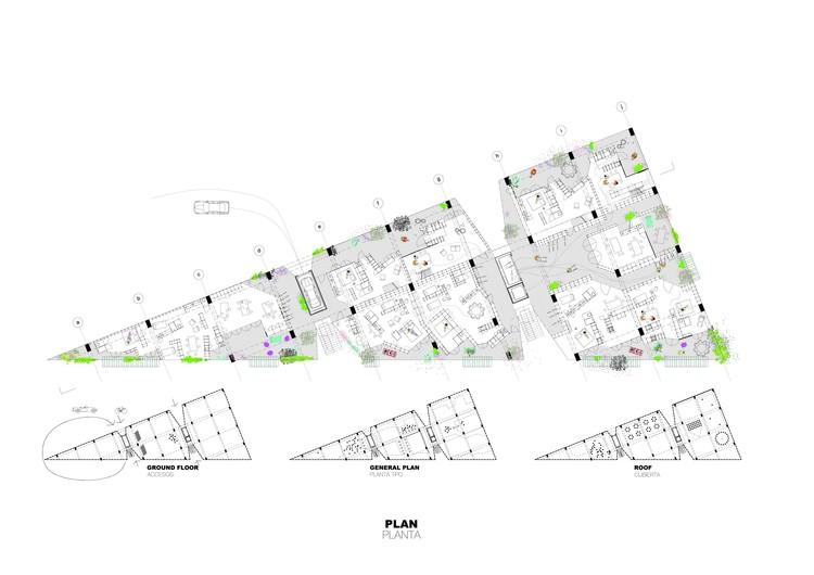 Planta general. Image Cortesía de Langarita-Navarro Arquitectos
