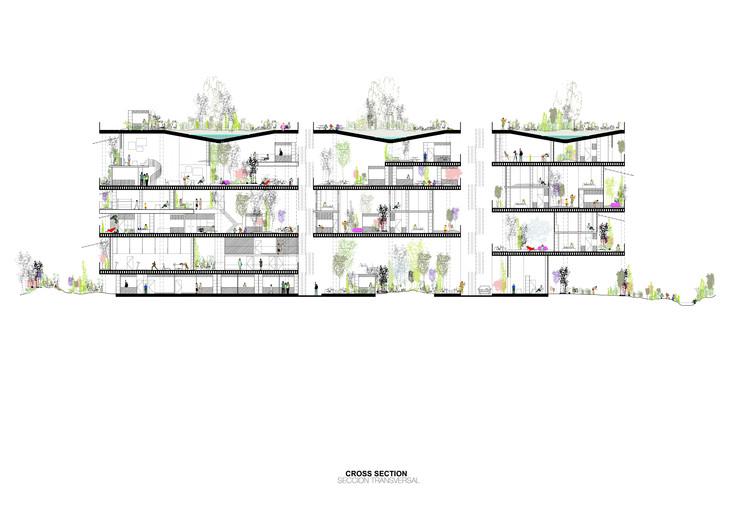 Sección/Corte. Image Cortesía de Langarita-Navarro Arquitectos