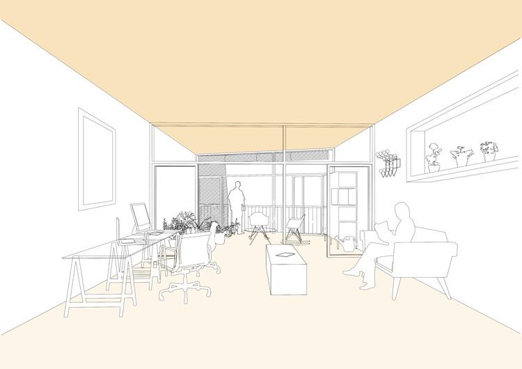 Interior de vivienda-taller. Image Cortesía de Honorata Grzesikowska + Eduard Balcells
