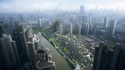 "Heatherwick-Designed Shanghai Development Conceived as Two ""Tree-Covered Mountains"""