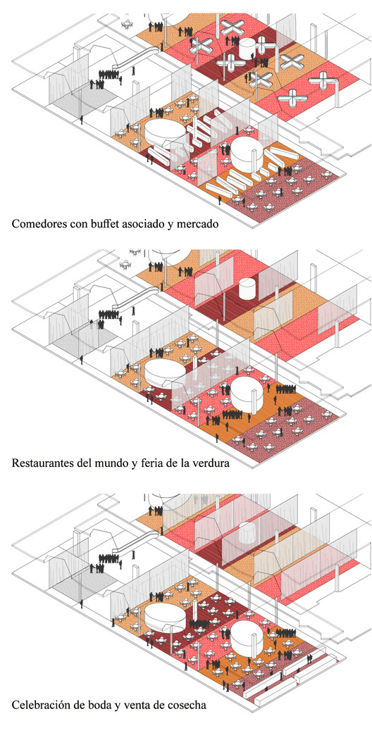 Sistema flexible de alternancia. Image Cortesía de Martínez Izaga Arquitectos