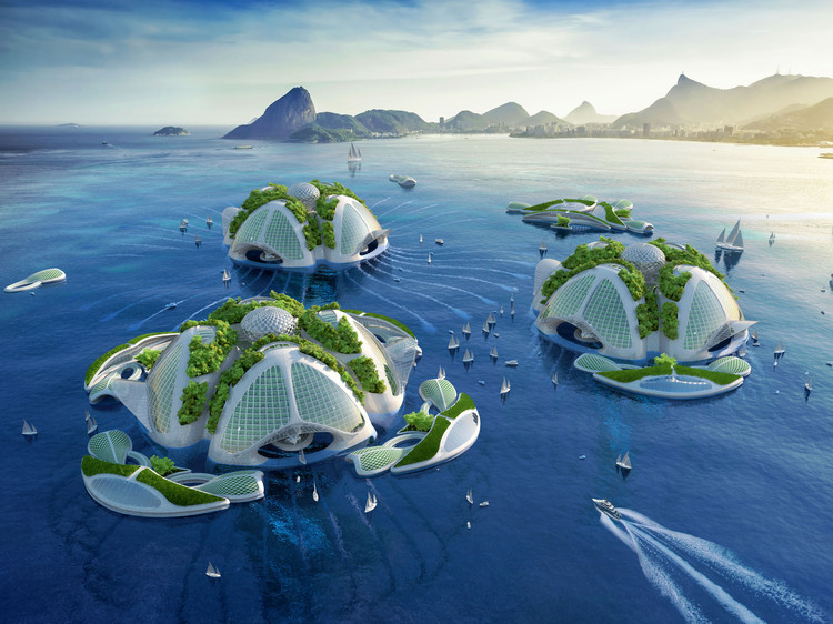 "Vincent Callebaut Imagines ""Oceanscrapers"" 3D Printed from Recycled Trash, © Vincent Callebaut"