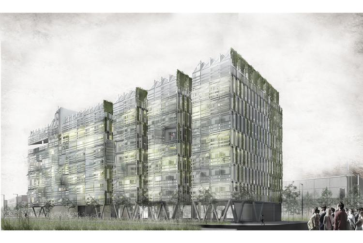 Finalista Europan 13: Infraestructura Doméstica / Barcelona, Cortesía de GRX Arquitectos