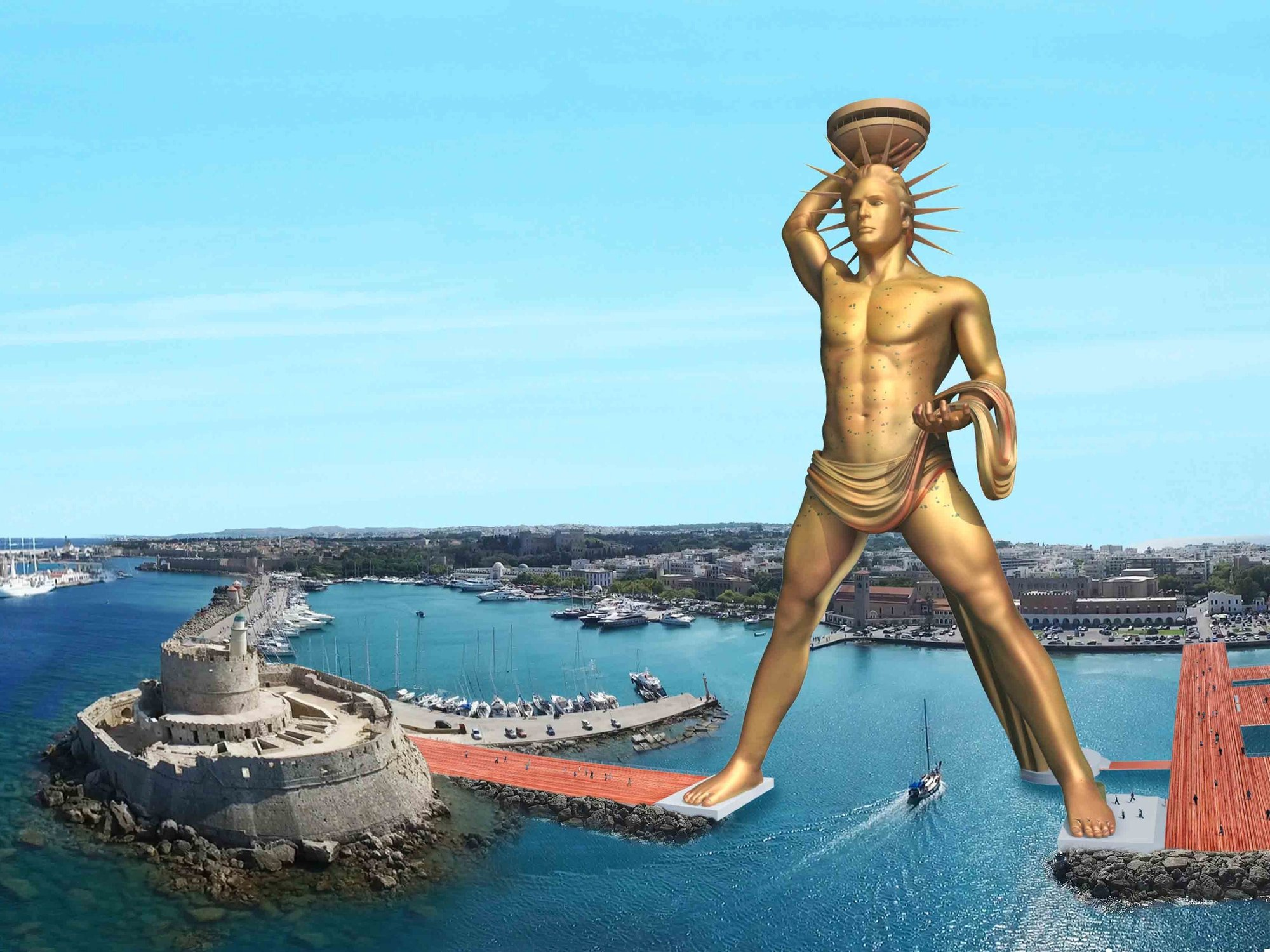 postmodernism tag  plans for a new ultra postmodern colossus of rhodes are brewing proposed
