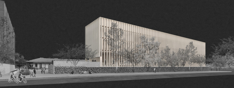 Segundo lugar en concurso de futuro edificio FADEU-CMPC / Chile, Cortesía de Equipo Segundo Lugar