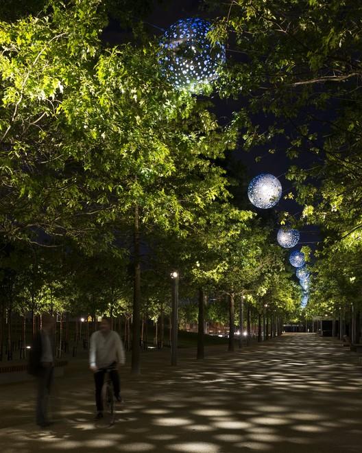 Ganador del Premio al Mérito IALD 2015: Iluminación diversa en la parte sur del Parque Olímpico Queen Elizabeth , © James Newton, Spiers + Major