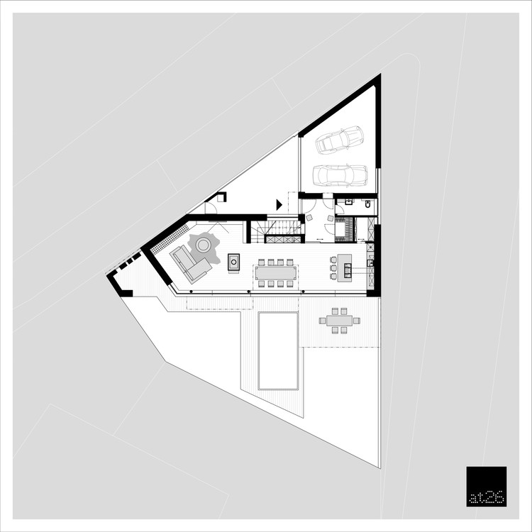 White cubes house at26 architecture design archdaily Cube house plans