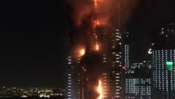 Dubai Skyscraper Engulfed in Flames Hours Before New Year's Celebration