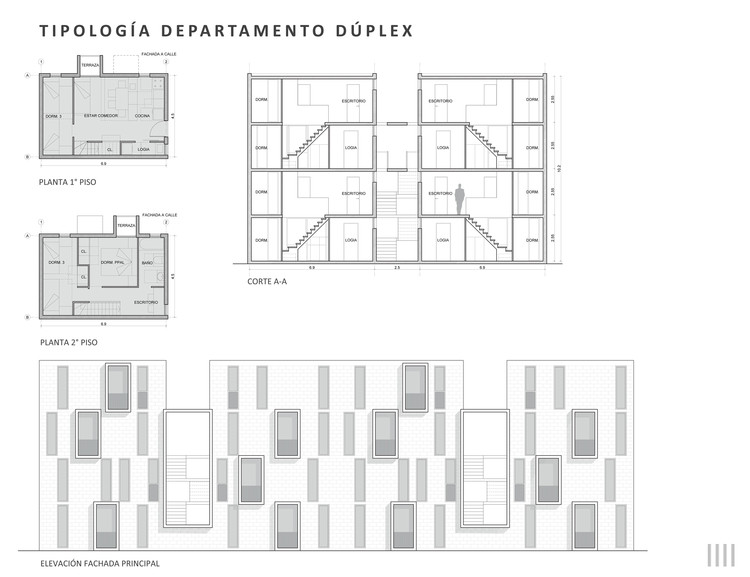 Tipología: departamento dúplex