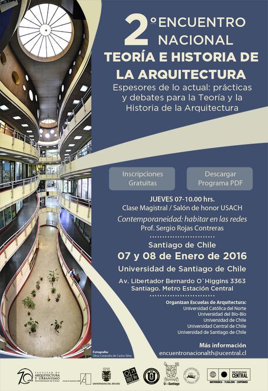 Segundo encuentro nacional de Teoría e Historia de la Arquitectura