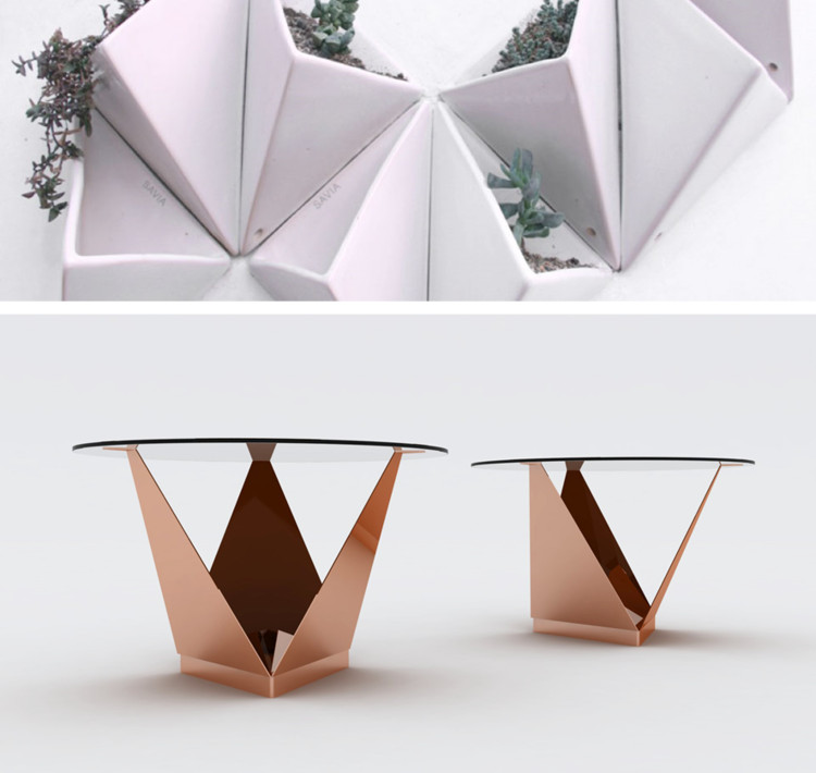 prisma mesa origami savia plataforma arquitectura