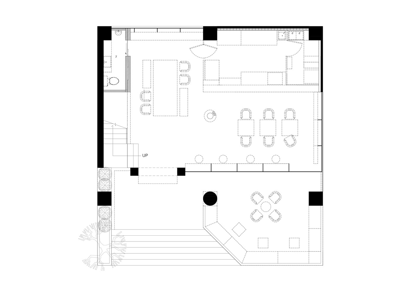 gallery of storyline cafe junsekino architect and design 26 storyline cafe floor plan