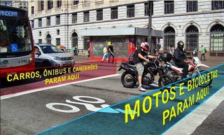 """Implementación de """"Bicibox"""" en cruces de São Paulo permite reducir los atropellos en un 28%, © CET"""