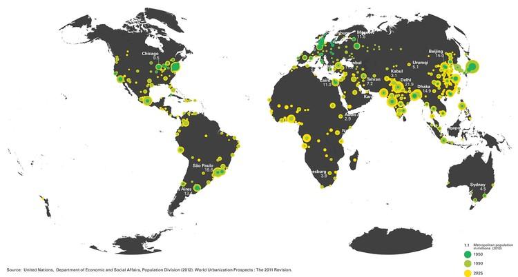 Pasado y presente de las grandes ciudades. Image © ONU
