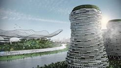 This Conceptual Design Reinvents Power Plants as Mixed-Use Megastructures
