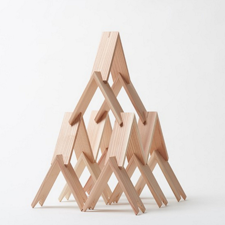Kengo Kuma's Triangular Block Set Now Available, via more trees store