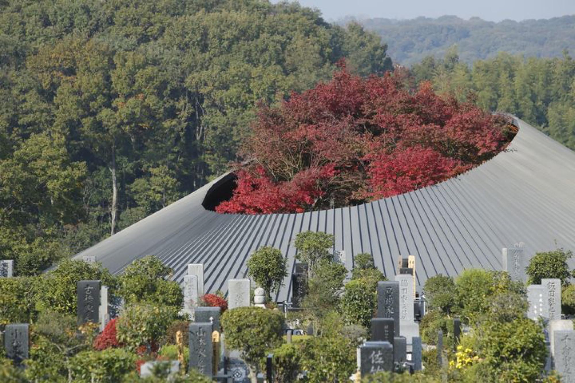 Sayama Lakeside Cemetery Community Hall Hiroshi Nakamura NAP