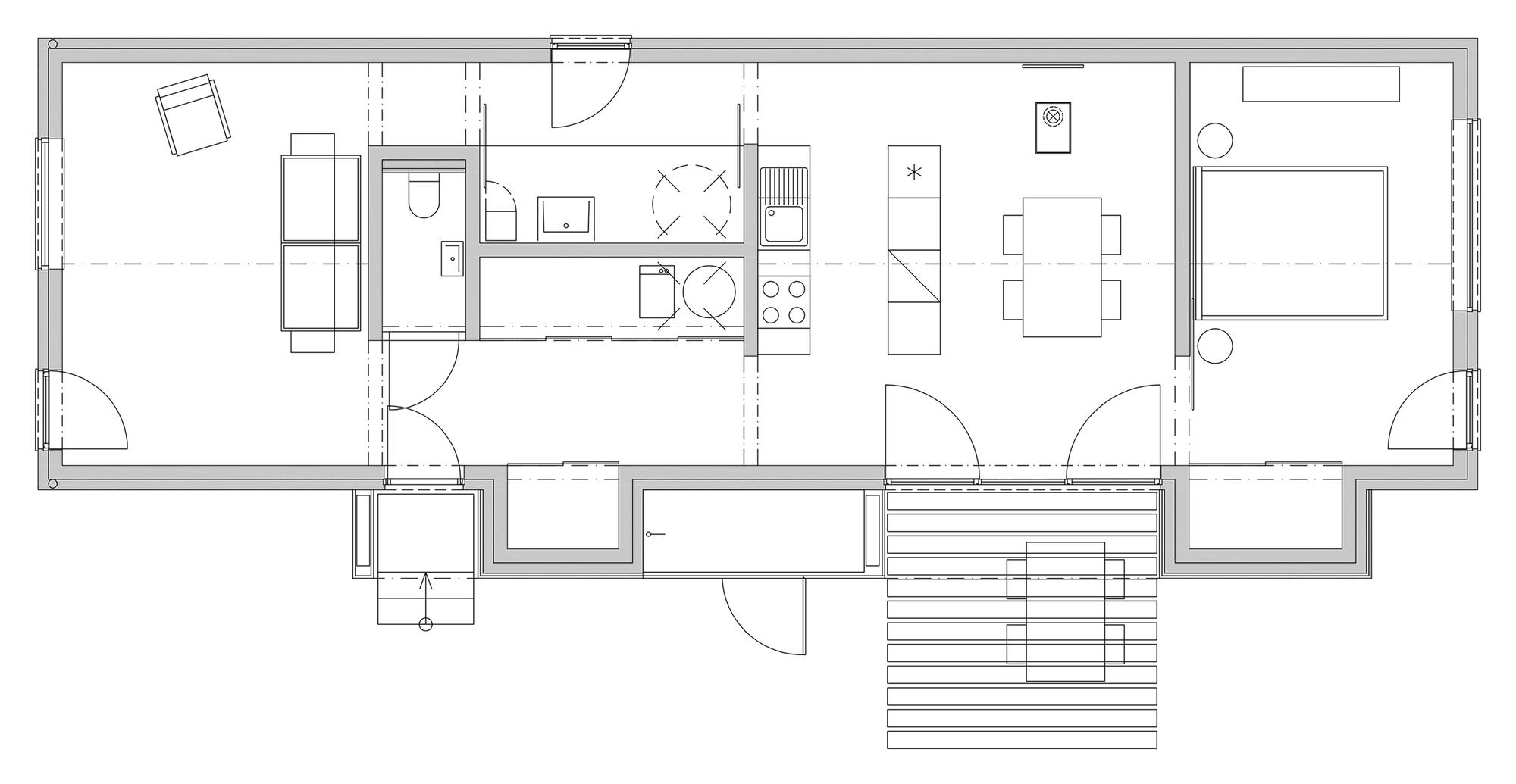 Gallery of Wooden Brick House   Jaro Krobot   Floor Plan