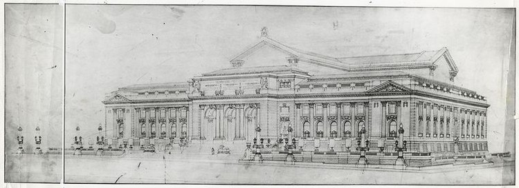 Fifth Avenue facade of New York Public Library. Image via The New York Public Library