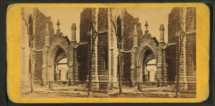 Great Chicago Fire aftermath. Image via The New York Public Library