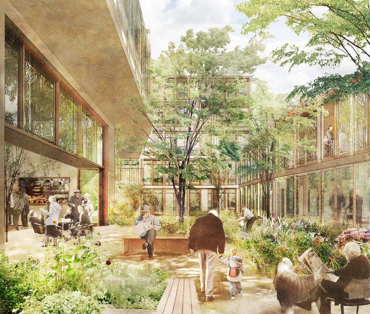 Witherford Watson Mann's Central London Almshouse Promotes Sociability for the Elderly, Courtesy of Witherford Watson Mann Architects