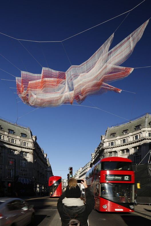 1.8 London, Janet Echelman, Lumiere London 2016, produced by Artichoke, supported by the Mayor of London. Image © Ema Peter