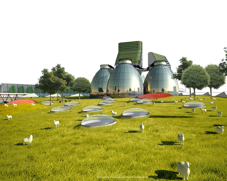 Fayetteville 2030: Food City Scenario / University of Arkansas Community Design Center. Image via AIA