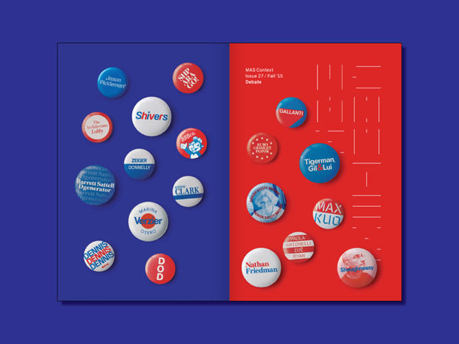 Front and back cover of MAS Context Fall 2015: Debate. Image Courtesy of MAS Context