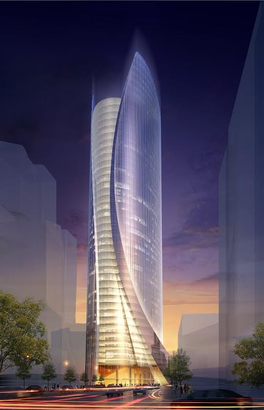One Congress Office Tower. Image Courtesy of Pelli Clarke Pelli/CBT Architects