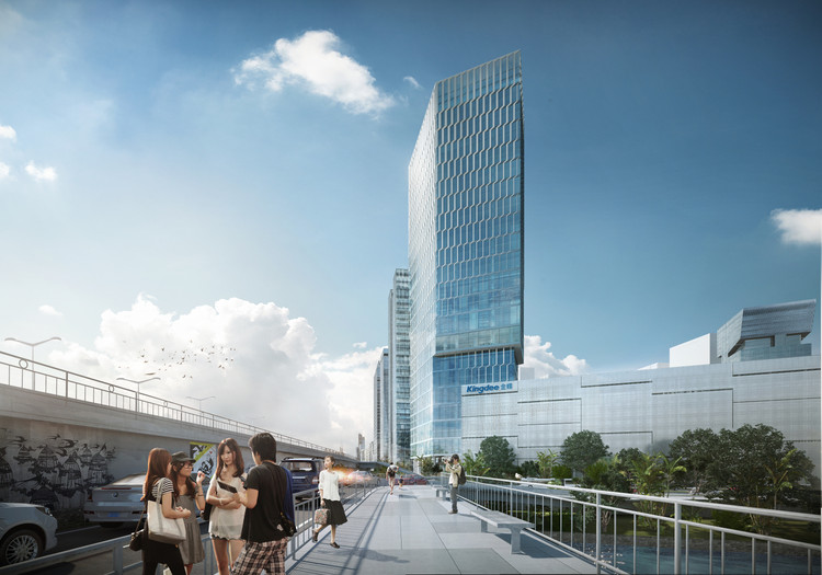 HENN Wins Competition to Design Kingdee Tower in China, © HENN