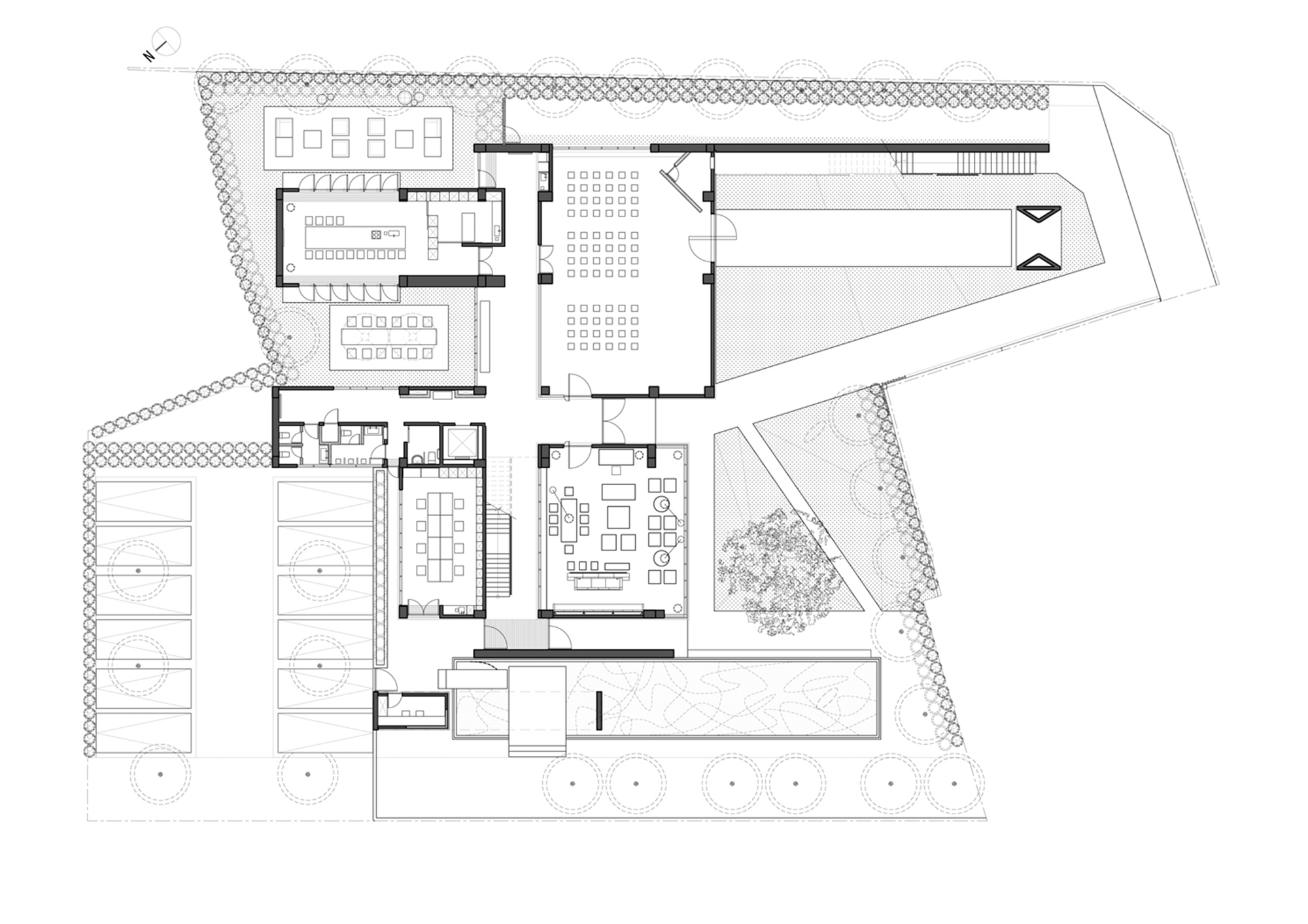 Gallery of incubation reception center ching chi design for Architects office design plans